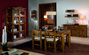 muebles comedor de madera rústica