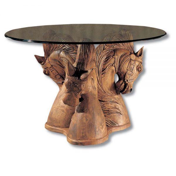 mesa rústica tallada