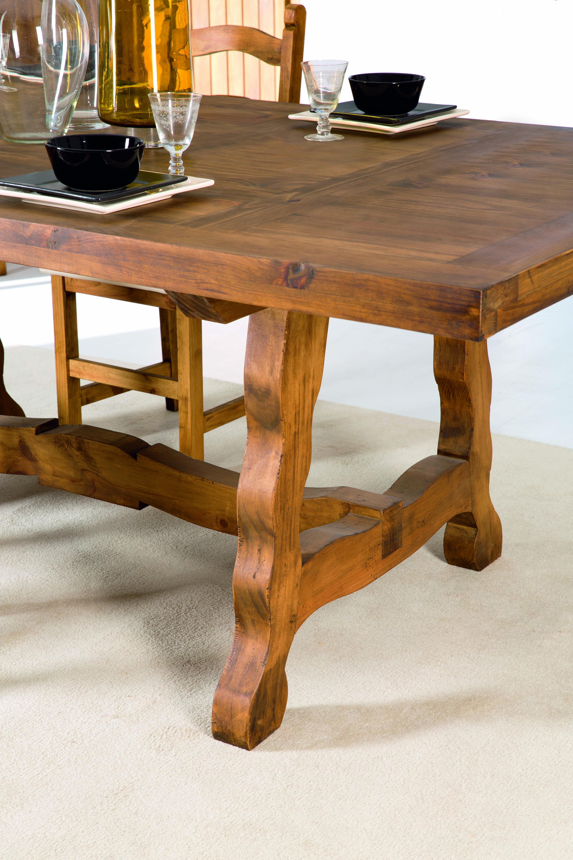 Mesa de comedor r stica 12122 myoc f brica de muebles for Mesa madera maciza rustica
