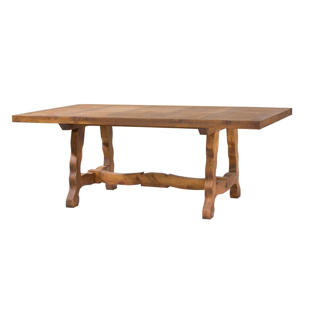 Mesa de comedor r stica 12121 myoc f brica de muebles - Mesas rusticas comedor ...