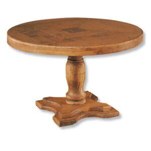mesa de comedor redonda rústica