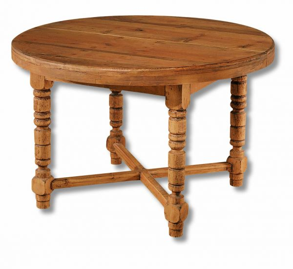 mesa comedor rústica redonda extensible
