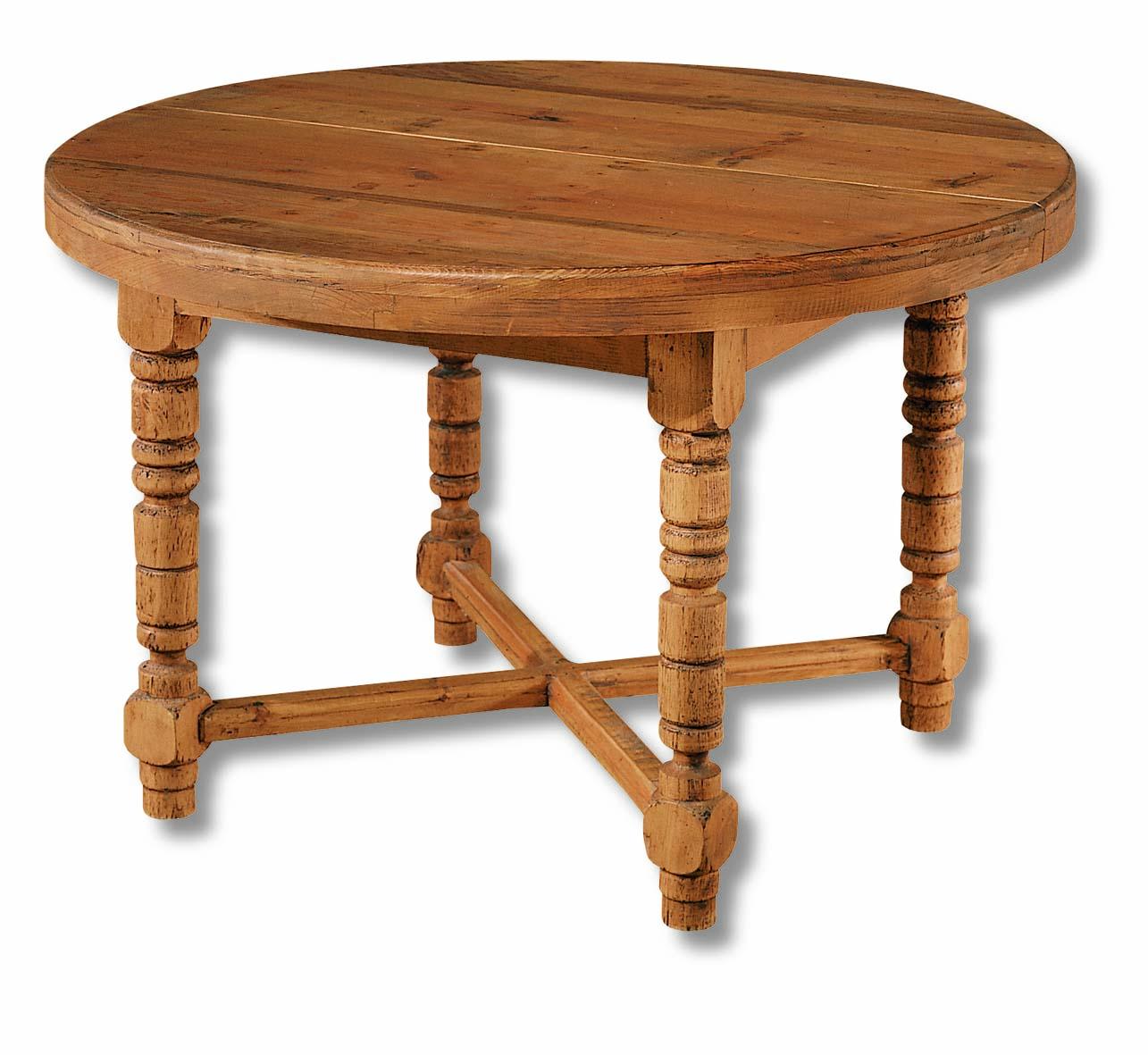 Mesa de comedor r stica 12152 myoc f brica de muebles - Mesa madera maciza rustica ...