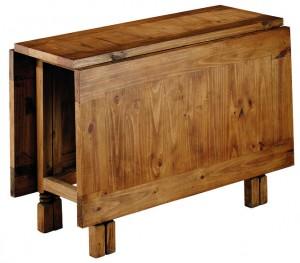 mesa comedor rústica plegable