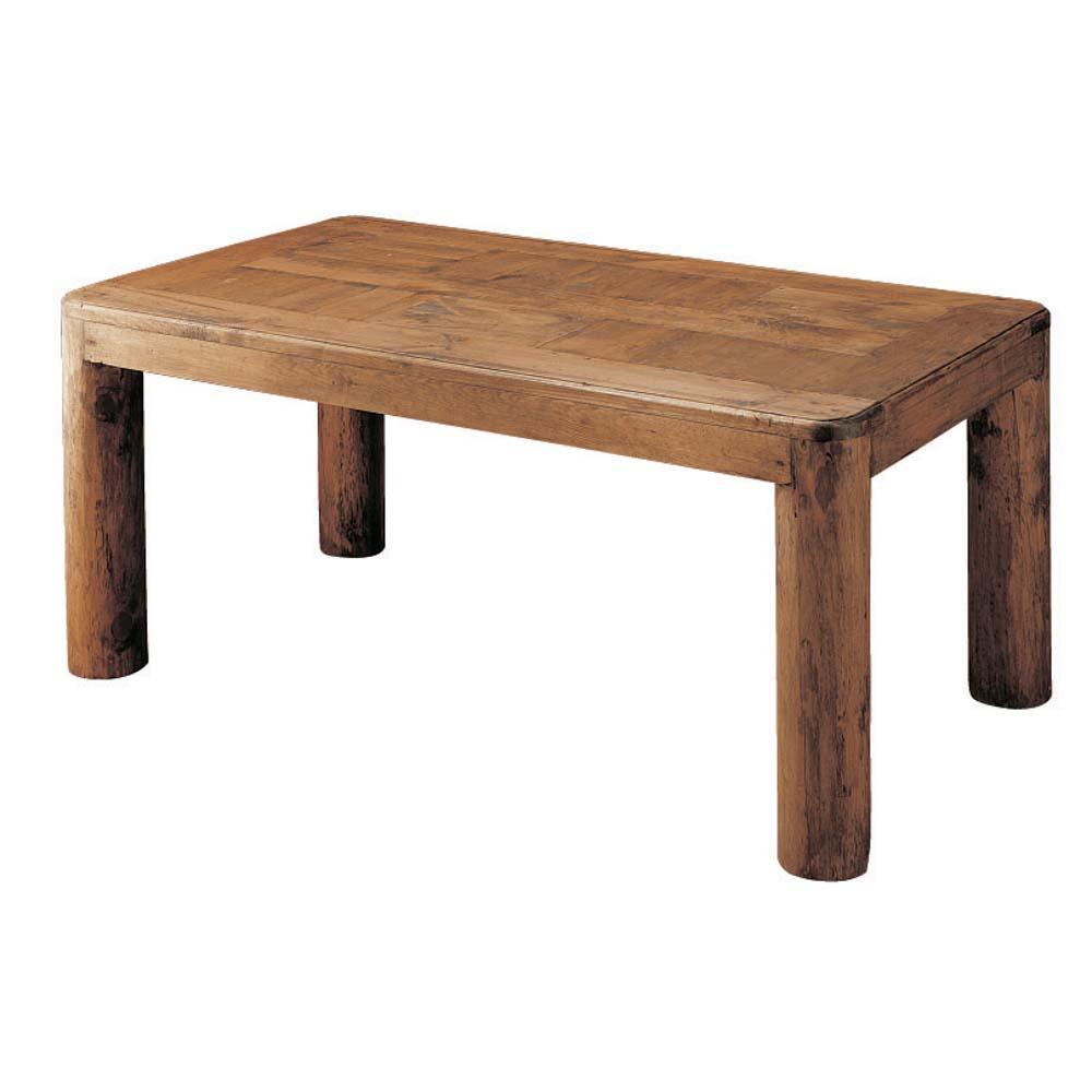 Mesa comedor r stica troncos 12521 myoc f brica de for Mesa madera maciza rustica
