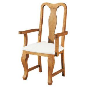 silla de madera tapizada