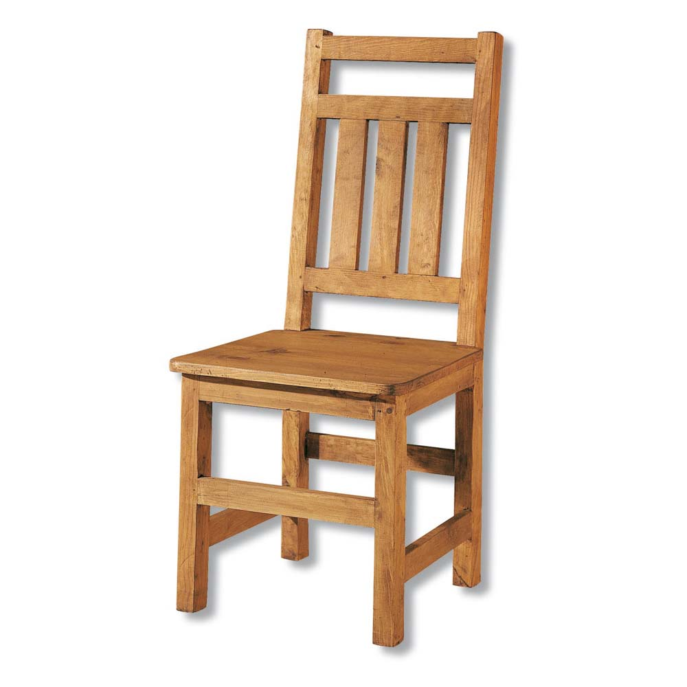 Silla r stica 13124 myoc f brica de muebles r sticos for Sillas de madera rusticas