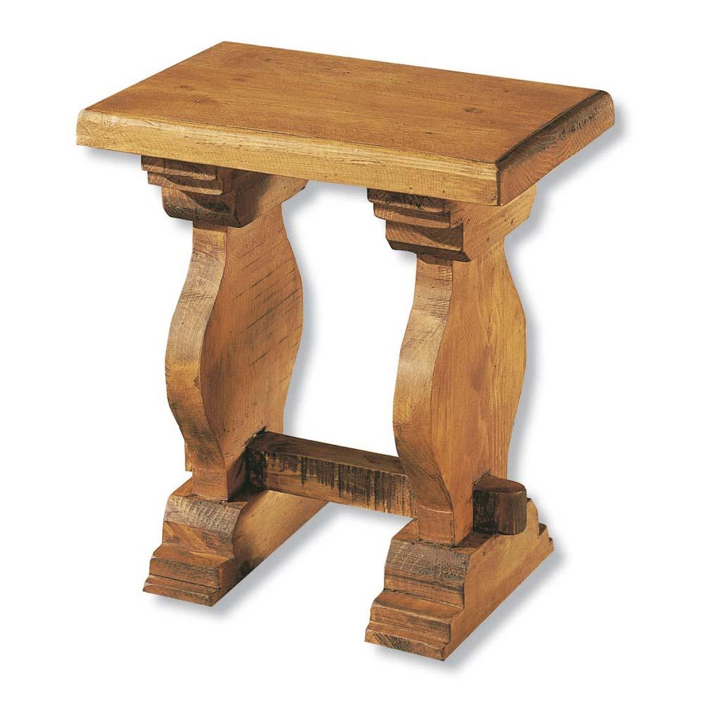 Taburete r stico 13155 myoc f brica de muebles r sticos for Taburetes de madera rusticos