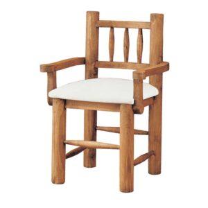 silla de madera tapizada con troncos