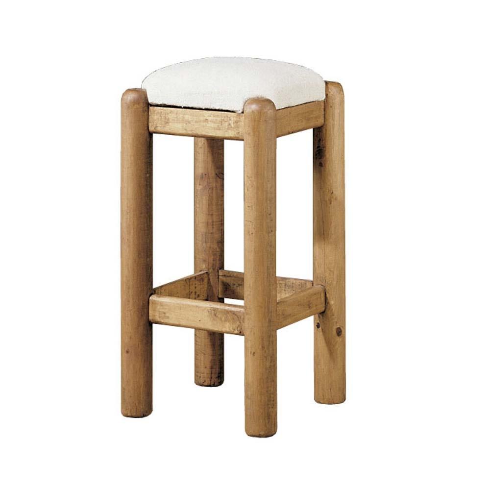 Taburete r stico 13522 myoc f brica de muebles r sticos for Taburetes de madera rusticos