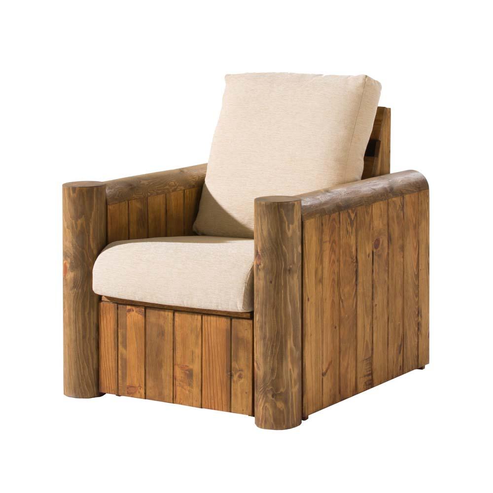 sofá 1 plaza de madera