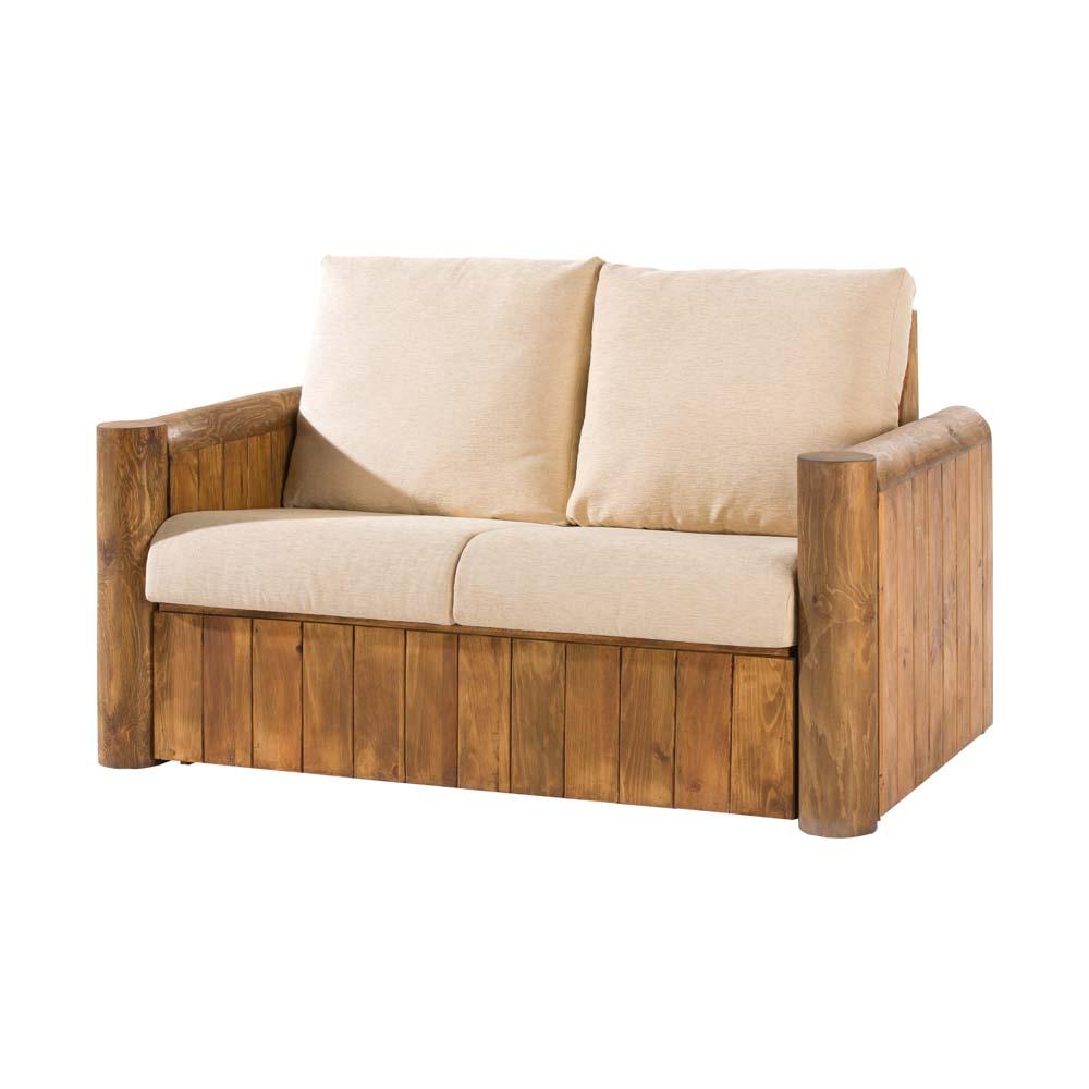 Sof r stico de 2 plazas 14506 myoc f brica de muebles r sticos 100 madera maciza - Sofas de tela ...