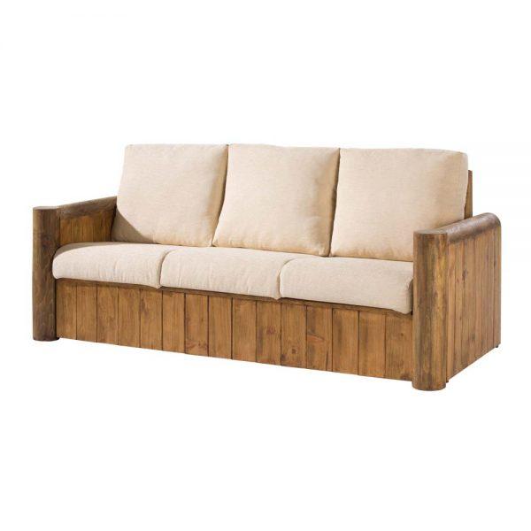 sofá 3 plazas de madera