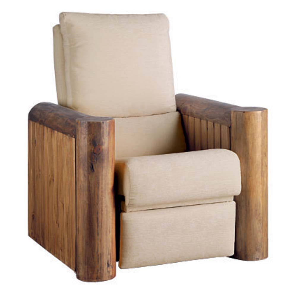 sillón reclinable de madera