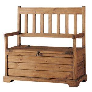 banco de madera con baul