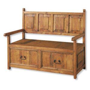 banco de madera 2 cajones