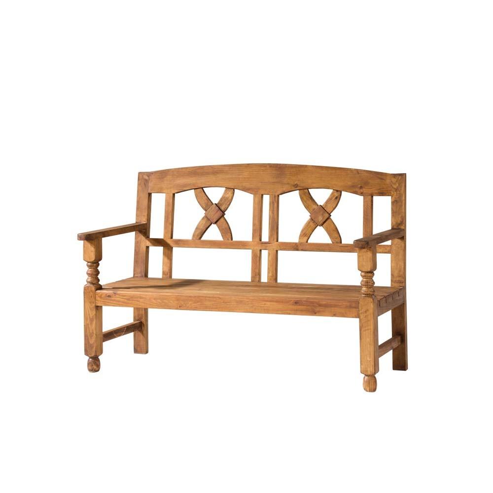 Banco r stico 15118 myoc f brica de muebles r sticos 100 madera maciza - Banco de madera rustico ...