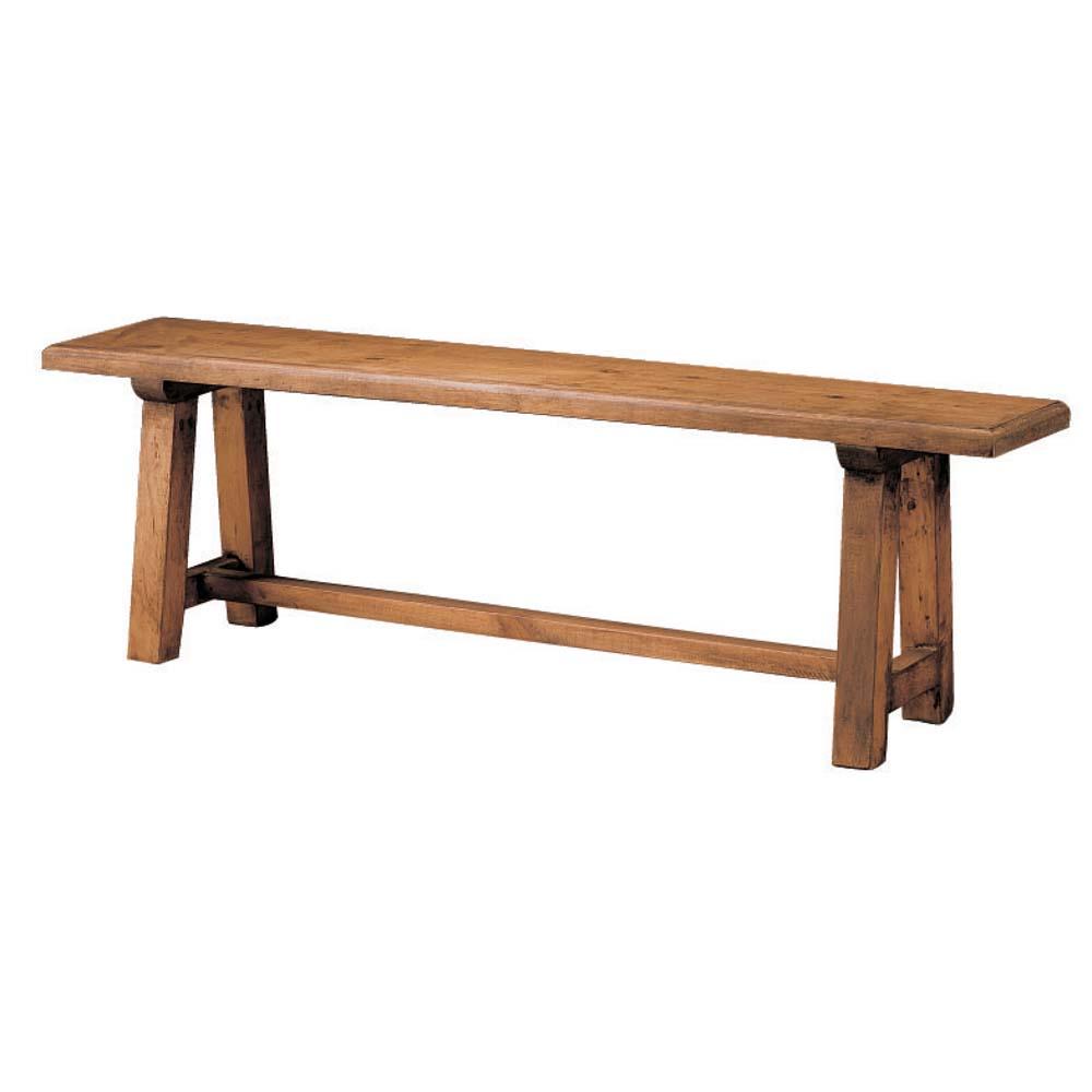 banco de madera sin respaldo