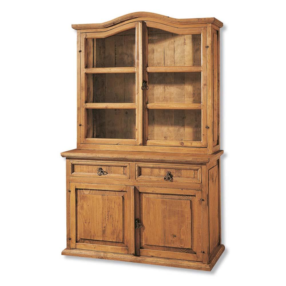 Vitrina r stica 16101 myoc f brica de muebles r sticos for Fabricantes de muebles de madera