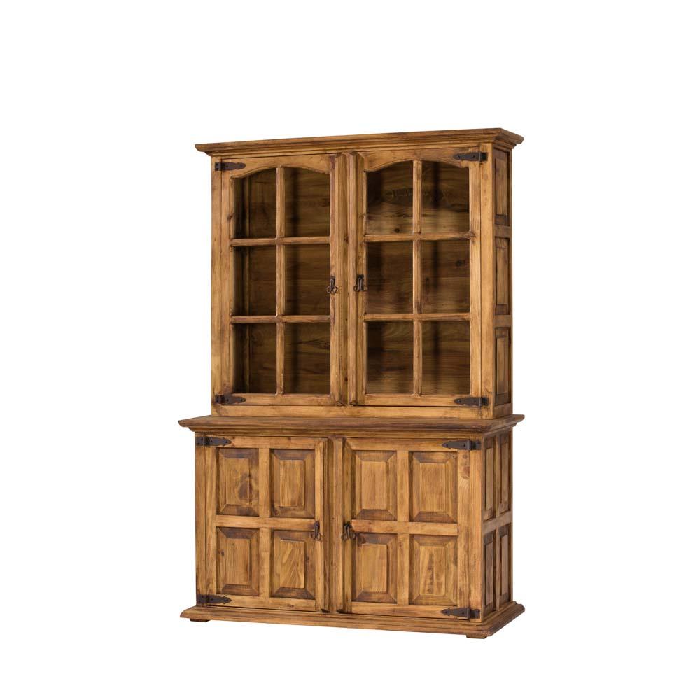 Vitrina r stica 16105 myoc f brica de muebles r sticos for Fabrica muebles valencia