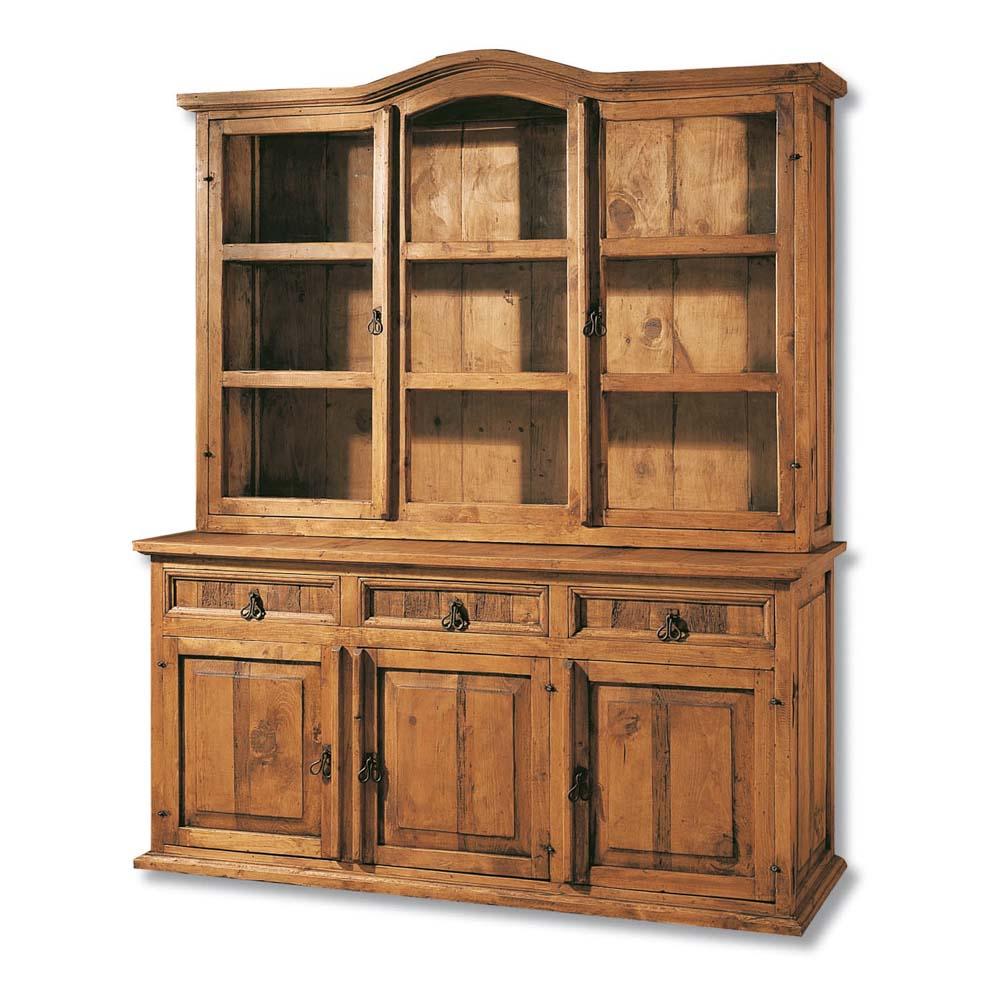 Vitrina r stica 16107 myoc f brica de muebles r sticos for Fabricantes de muebles de madera