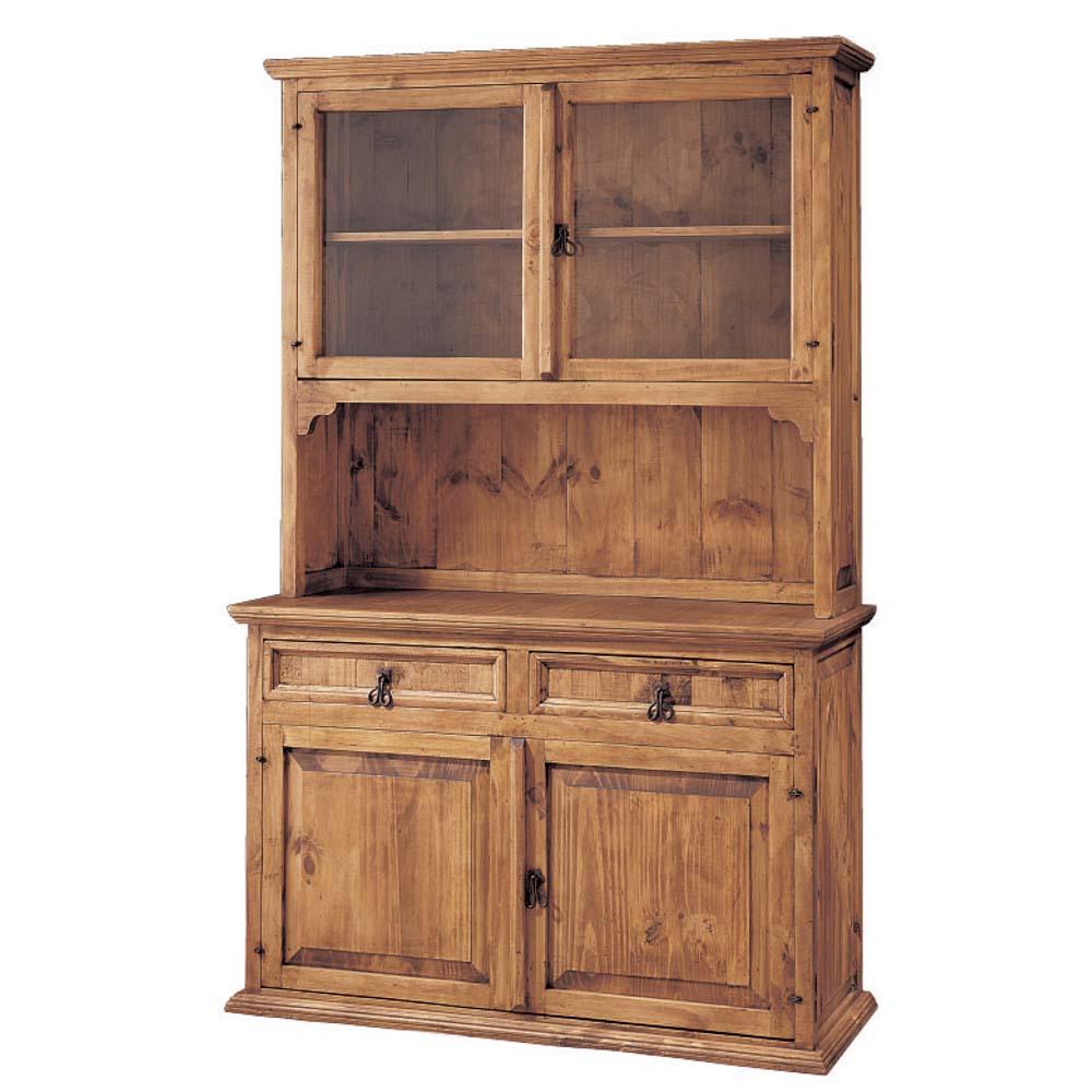 Vitrina r stica 16111 myoc f brica de muebles r sticos for Fabricas de muebles de madera