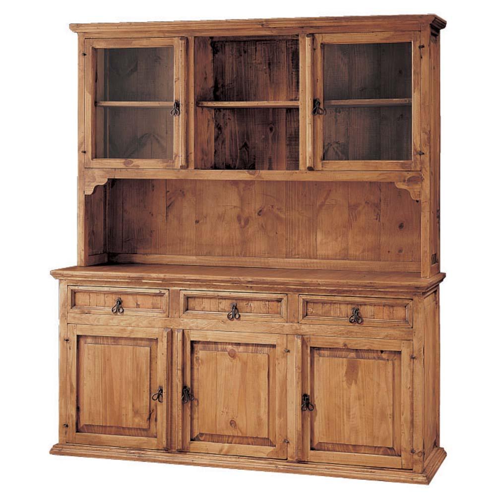 vitrina rustica de madera