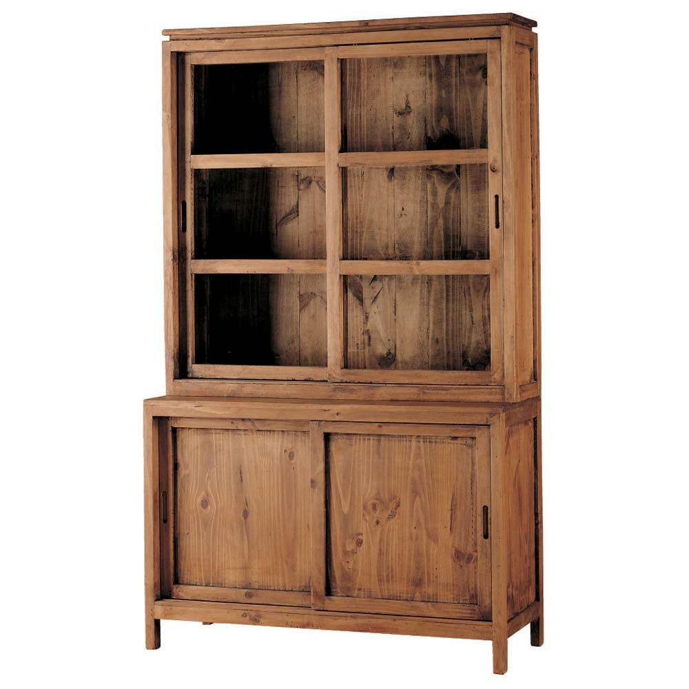 Vitrina r stica myoc f brica de muebles r sticos 100 for Muebles de oficina rusticos