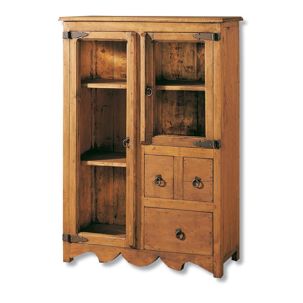 Vitrina r stica 16145 myoc f brica de muebles r sticos for Fabricantes de muebles de madera