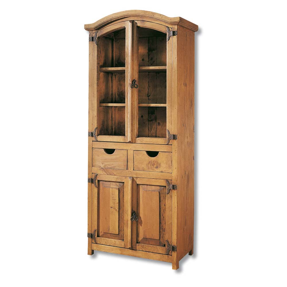 Vitrina r stica 16147 myoc f brica de muebles r sticos 100 madera maciza - Vitrinas rusticas ...