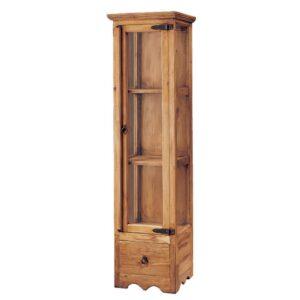 vitrina de madera puerta cristal