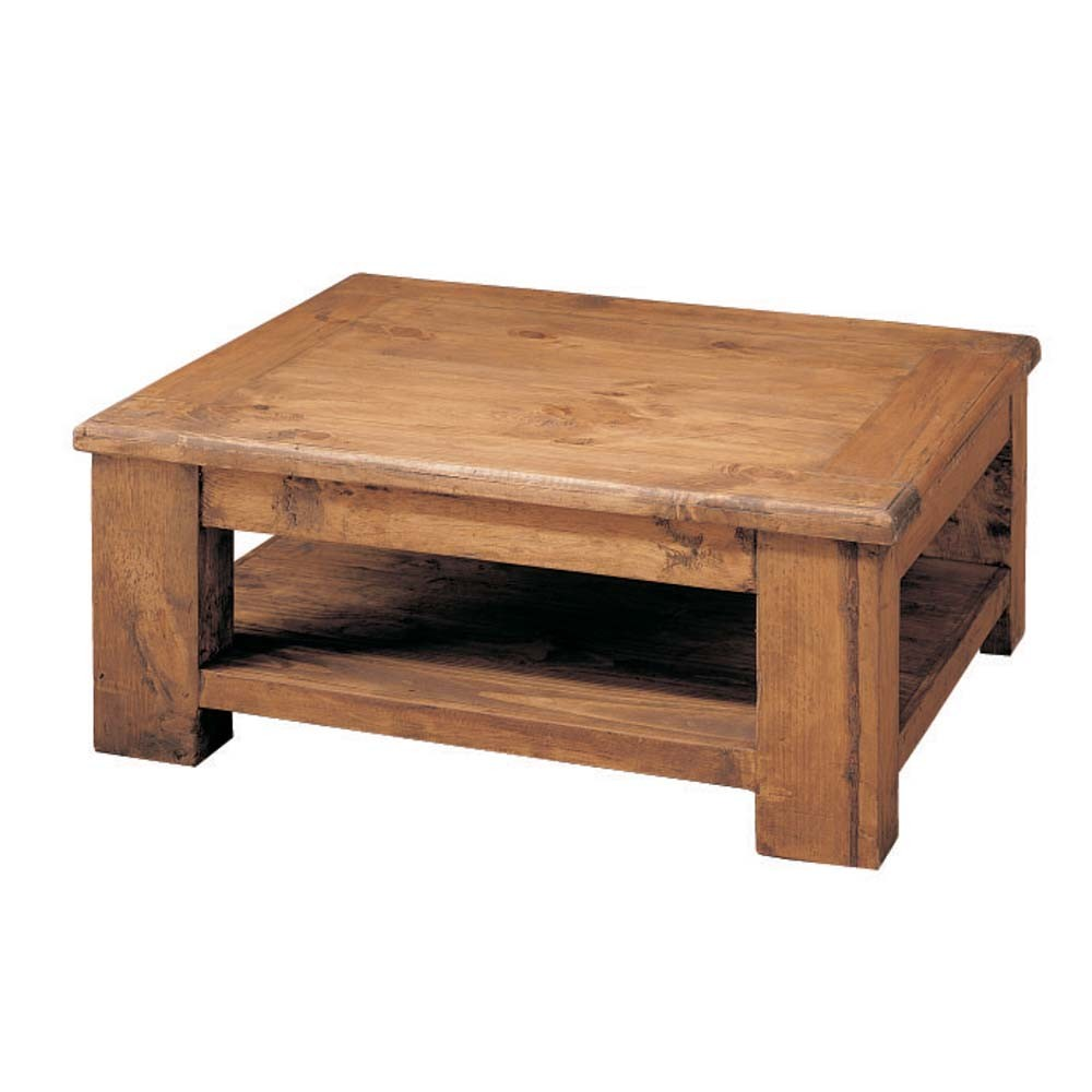 Mesa de centro r stica 18121 myoc f brica de muebles for Mesa de centro madera maciza