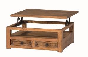 mesa de centro madera rústica extensible