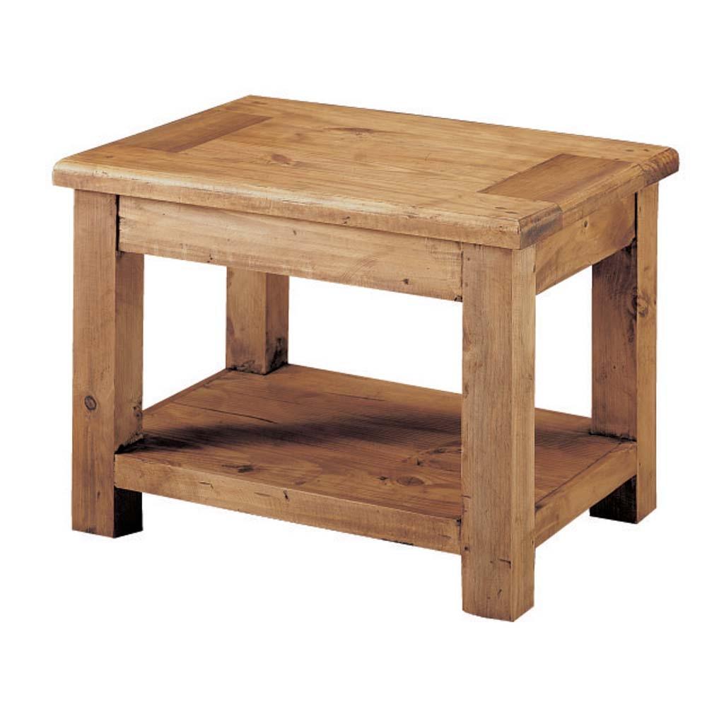 Mesa lateral r stica myoc f brica de muebles r sticos - Fabrica de muebles en madera ...