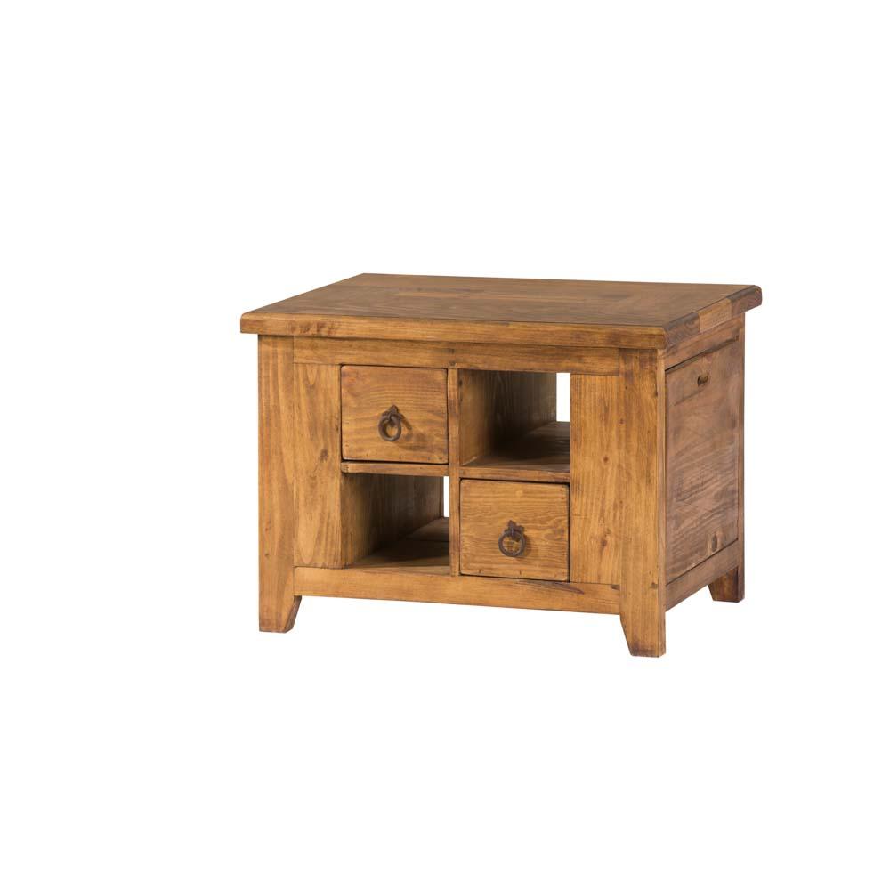 mesa de centro madera, 2 cajones