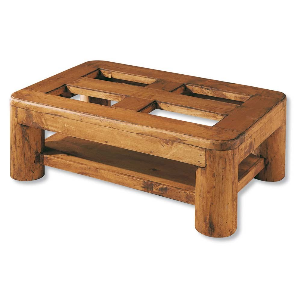 Mesa de centro r stica troncos myoc f brica de - Cristales para mesas redondas ...