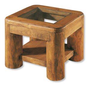 mesita lateral de madera maciza