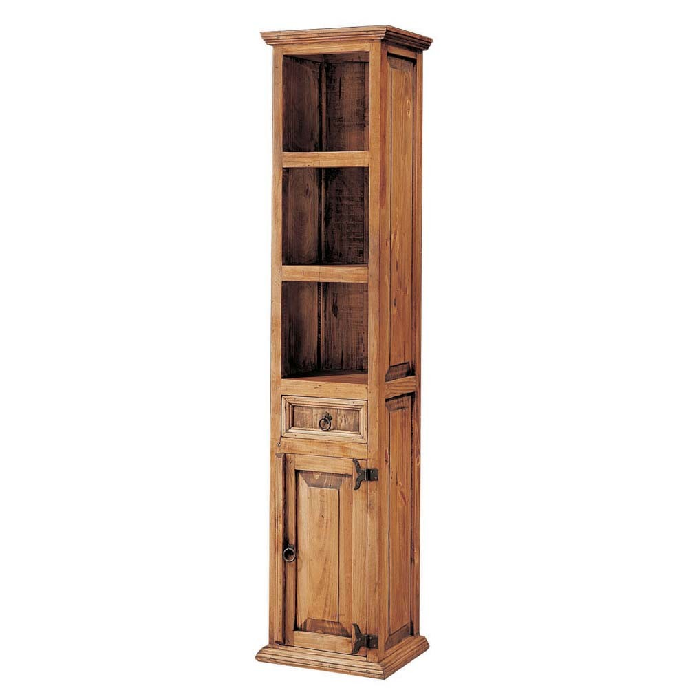 Librero r stico myoc f brica de muebles r sticos 100 for Fabricantes de muebles de madera