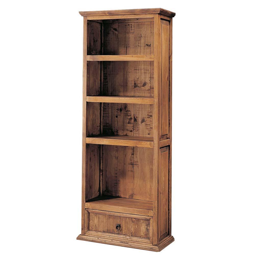 Librero r stico 20112 myoc f brica de muebles r sticos for Bar de madera rustico esquinero