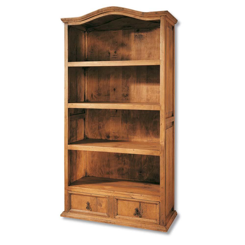 Librero r stico 20114 myoc f brica de muebles r sticos for Muebles rusticos de madera