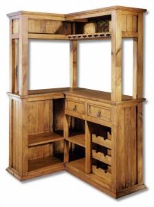 mueble bar madera rústica