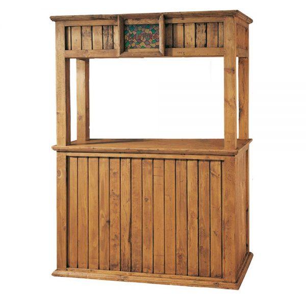 mueble bar de madera rustico
