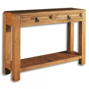 mueble aparador de madera 2 cajones