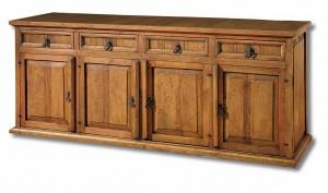 cómoda madera rústica 4 espacios