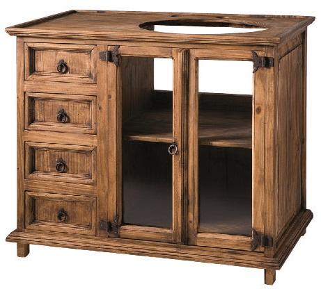 mueble baño madera rústica 1 seno