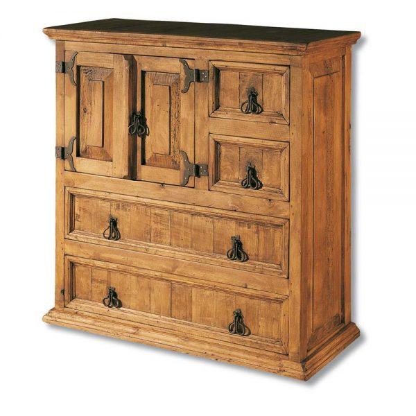 cómoda madera maciza