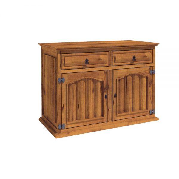 cómoda de madera con troncos