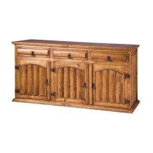 cómoda rústica de troncos