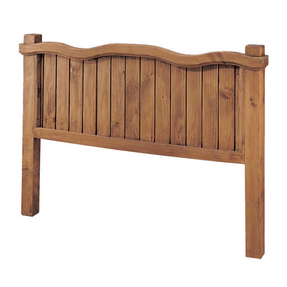 cabecero de madera rústico