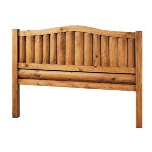 cabecero de madera con troncos
